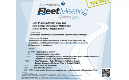 Internationales Fleet-Meeting in Genf